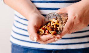 Various nuts in jar